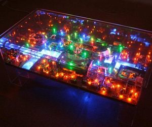 Electri-City tables by Benjamin Yates for geeky abodes