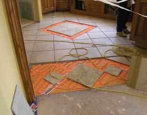 Electric Radiant Floor Heat Mats - Heat pad under tile floor
