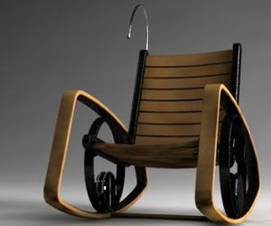 Electric Rocking Chair With Kinetic Energy by Shawn Kim
