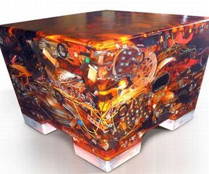 Electronic Waste Recycled into a Geeky Table