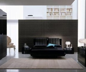 Elegant Black Bedroom Furniture Set