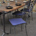 6 wrought iron chairs from elemental
