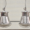 elemental | Pair polished pendant lamps