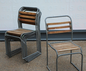 Steel tube chairs from elemental