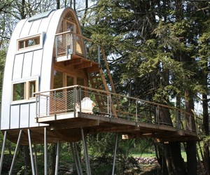 New Elevated Treehouse in Germany by Baumraum