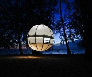 Enchanting Suspended Spherical Tent