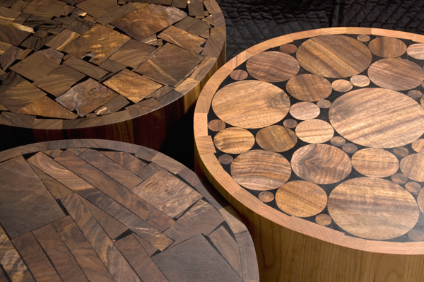 ... End Grain Scrap Tables ...