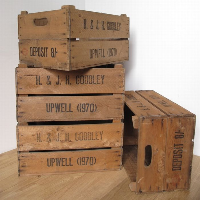 English apple crates for Used apple crates