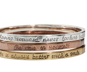 Engraved bangle set by Love Rocks