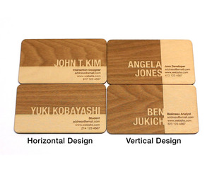 Engraved Wood Business Cards