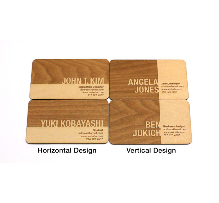 Engraved wood business cards colourmoves