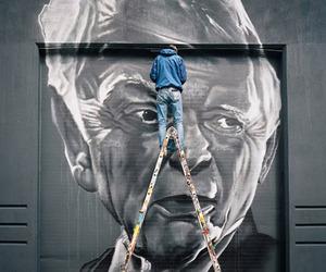 Enormous Portrait Murals by Hendrik Beikrich