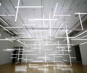 Enthralling Installation of Suspended Fluorescent Tubes