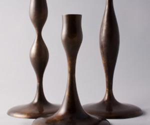 Eva Zeisel Candlesticks in Bronze