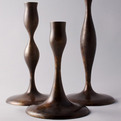 Eva Zeisel Candlesticks in Bronze