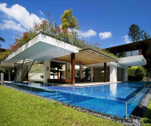Exotic sanctuary amongst a tropical jungle