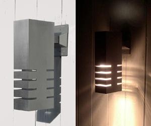 Exterior aluminum sconces by Mariusz Wroblewski