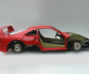 Extremely Detailed Ferrari F40 Model Car Build 30+ Pics