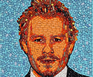 Eye Popping Pill Portraits of Celebrities