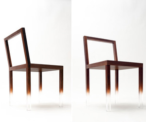 Fade Out Chair by Nendo