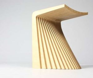 Pleat Stool By Chris Hardy