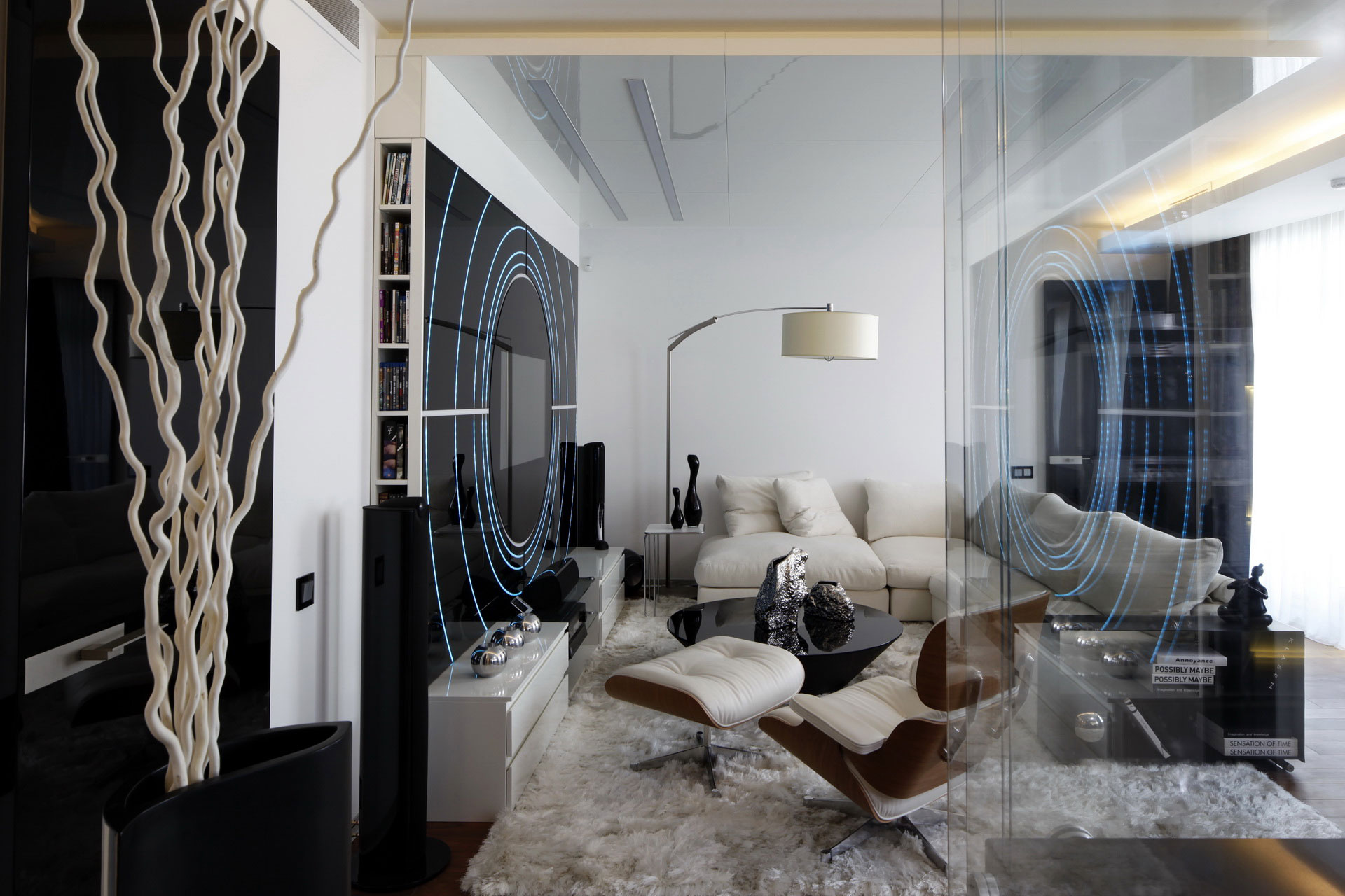 Fantasy island apartment in moscow by gemotrix design