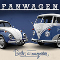 Fanwagen Beetle and T1, Facebook-Themed Vehicles