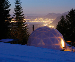 Fascinating + Cozy Geodesic Tents of Whitepod Ski Resort