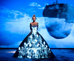 Fashion Tells Fairytale With Light Projection