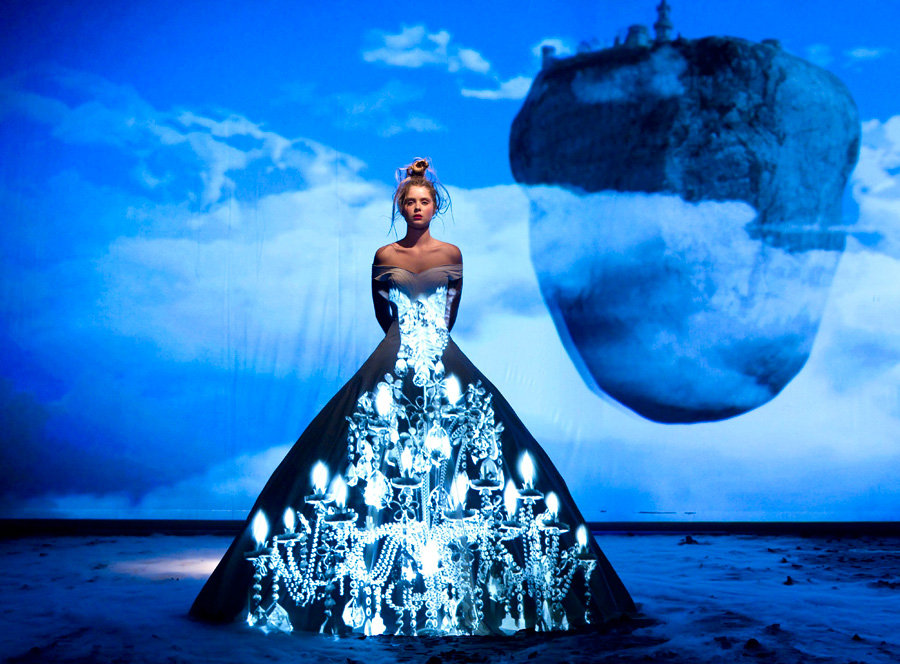 Fashion Tells Fairytale With Light Projection f9623a04b71