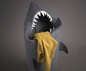 Felt Shark Laundry Hamper