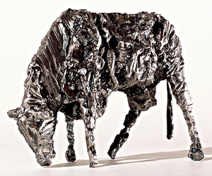 ffryes cow- steel sculpture by Tyler Fenn