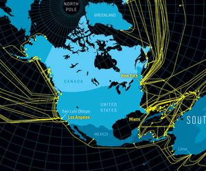 Fiber Optic Map of the Web