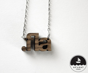 File Extension Necklaces by Afloat