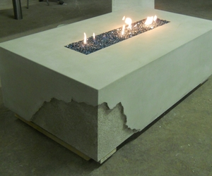 Fire Table by Solid Concrete Countertops