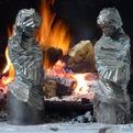 Firedogs by sculptor Tyler Fenn