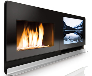 Fireplace and Flatscreen TV in one.
