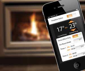 Fireplace Controllable by iPhone or Android Smart Phone