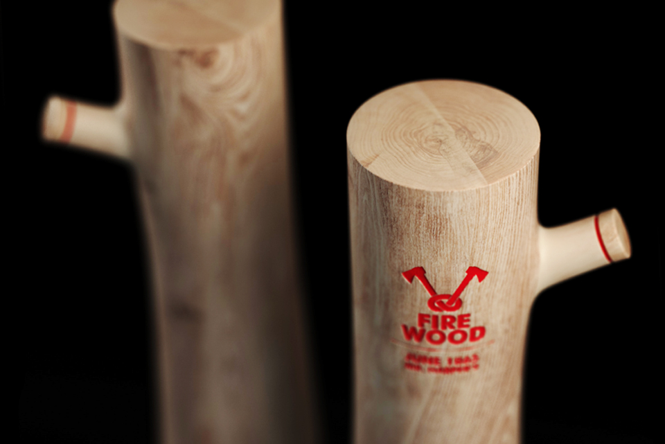 Firewood Vodka Packaging designed by Constantin Bolimond