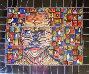 First Face Panel influenced by Hundertwasser