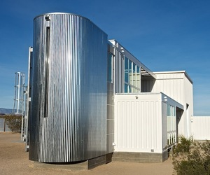 First Shipping Container House in Mojave Desert