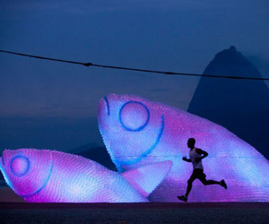 Fish Sculptures | Recycled Plastic Bottle Installation