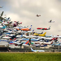 Five Hours of Airplane Landings in 25 Seconds