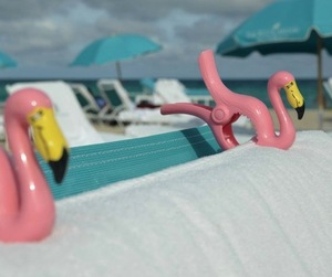 Flamingo Towel Clips