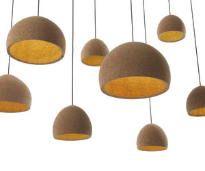Float lamps made from cork