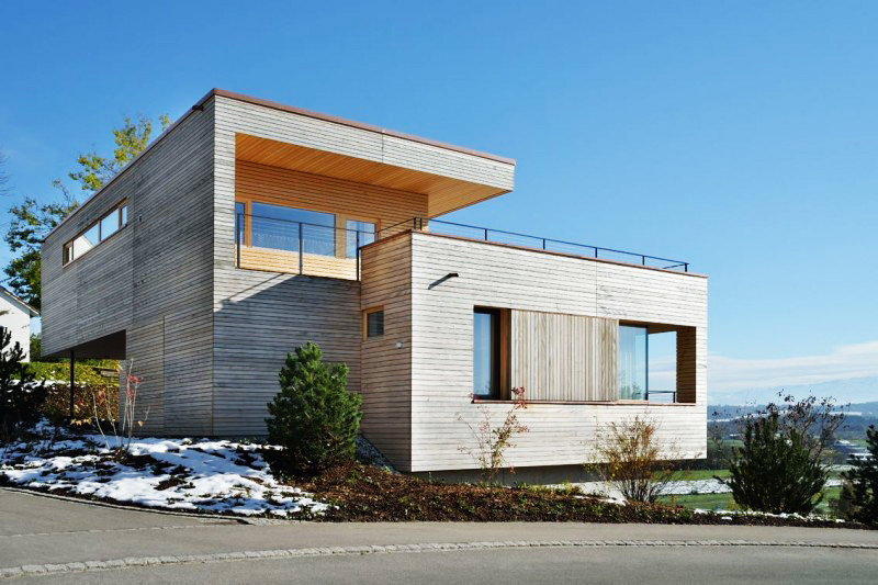 Floating Design of Weinfelden House in Switzerland