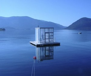 Floating Sauna By Rintala Eggertsson Architects