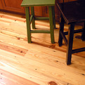 Flooring milled from Speigel Warehouse Reclaimed Pine