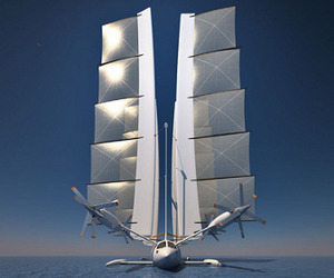 'Flying yacht' design concept from French designer