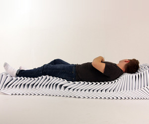 Fold braid bench by Elizabeth Moran